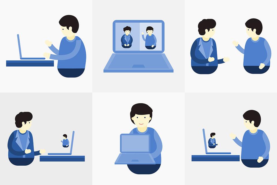 Video Conferencia, Llamada De Vídeo, Skype, En Línea
